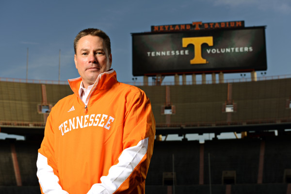Coach Butch Jones at Neyland